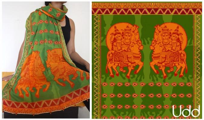 shiv-Parvati on nandi