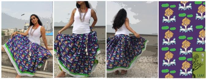Vrindavan skirt 2- happy calves