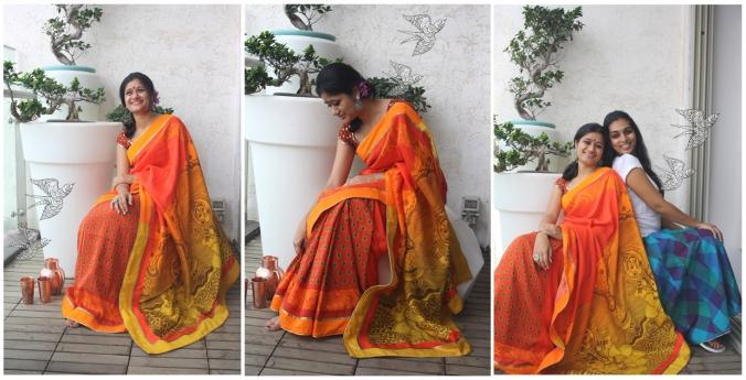 Laxmi with drop patli-silk saree