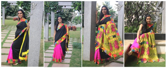 DURGA patch work silk saree- limited edition