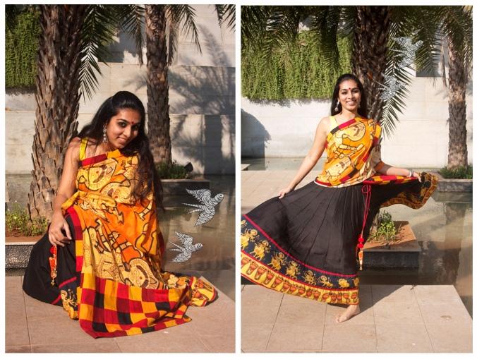 Durga half saree