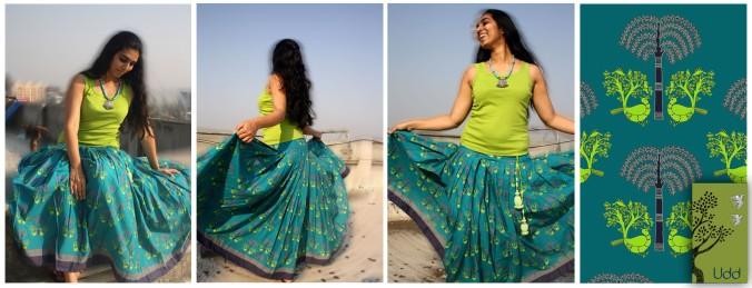Vrindavan Skirt 8 - Singing Birds 2