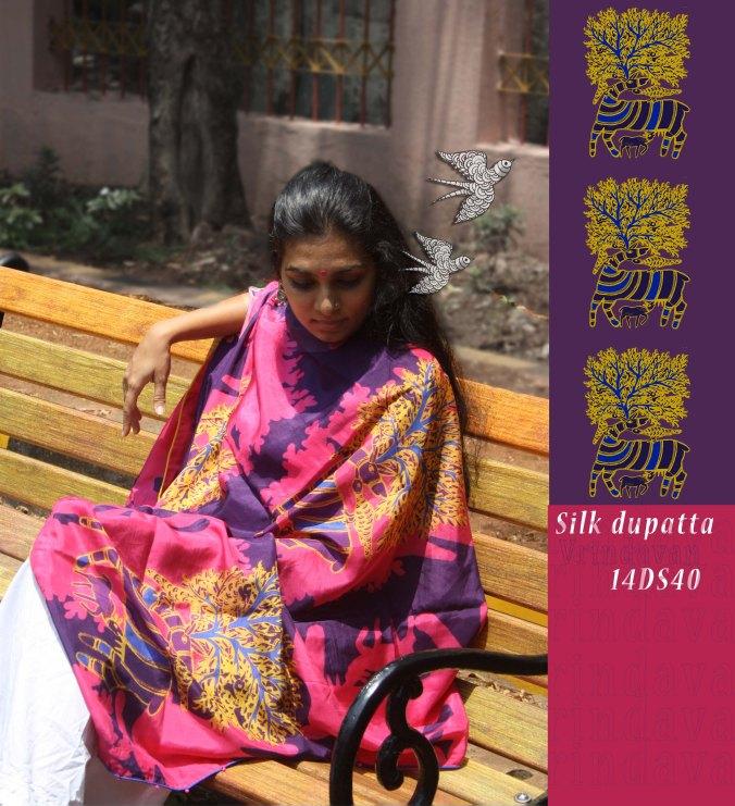 Silk Dupatta - 14DS40