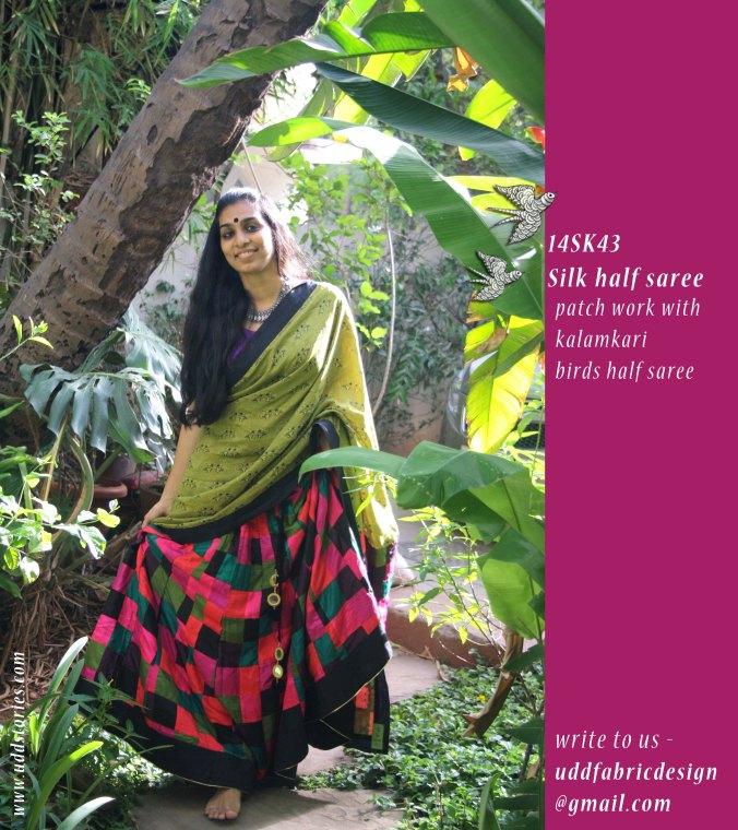 patch work half saree_silk__14SK43
