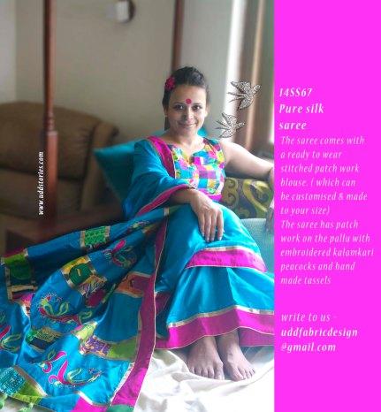 14SS67_silk saree + blouse set