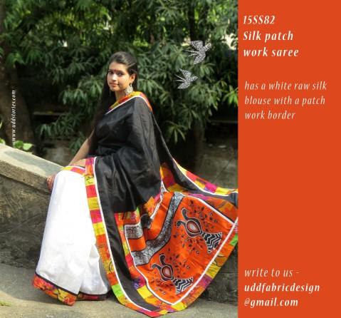 15SS82_silk patch work saree